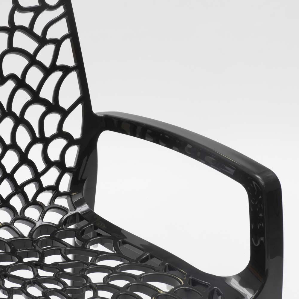 miniature 25 - Chaise en polypropylène accoudoirs jardin café Grand Soleil Gruvyer Arm