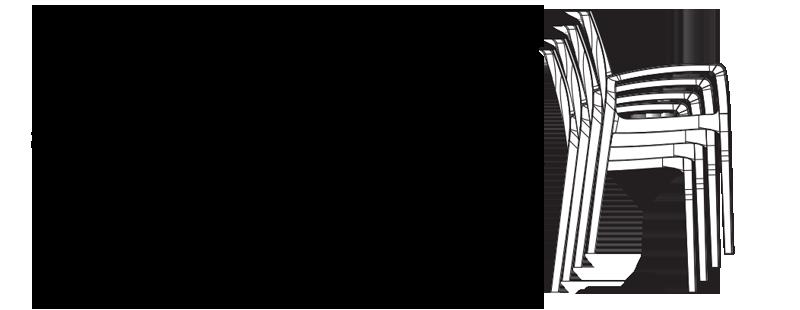 miniature 102 - Chaise en polypropylène accoudoirs jardin café Grand Soleil Gruvyer Arm