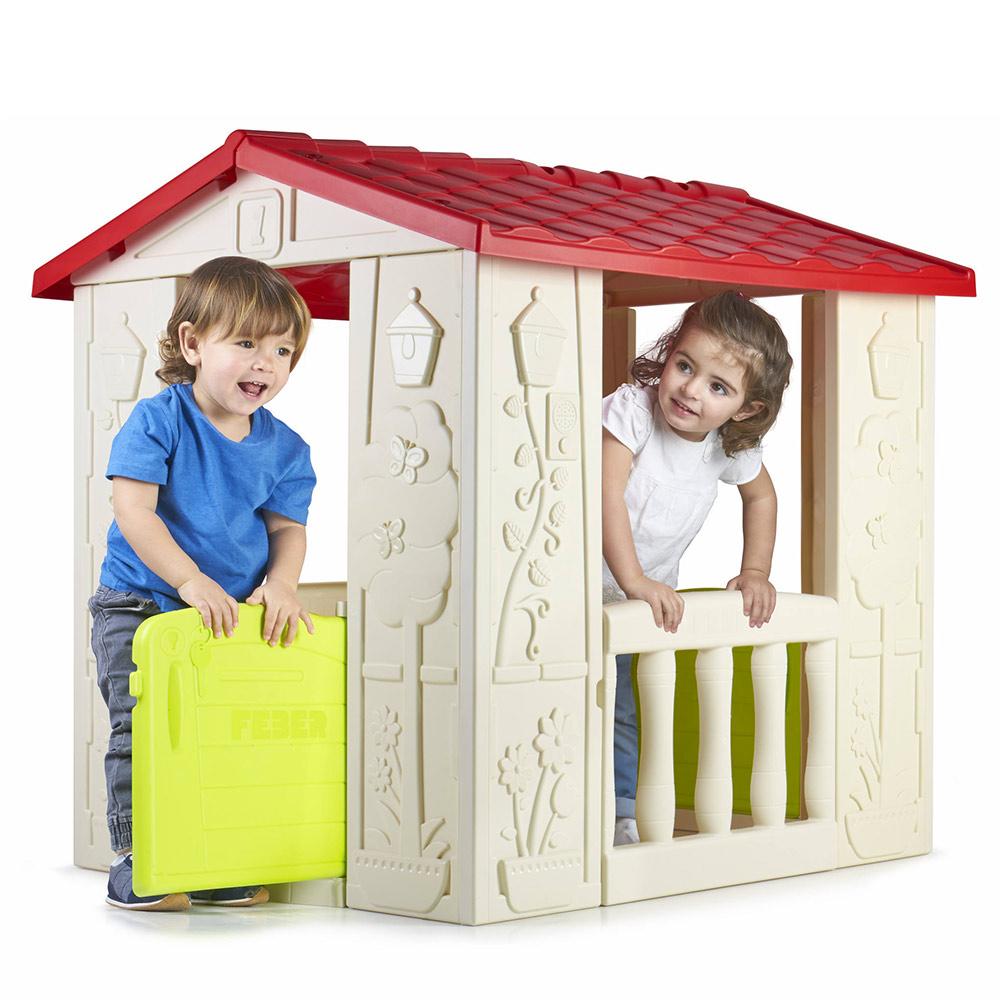 Maisonnettes De Jardin En Plastique Pour Enfants Happy House Feber