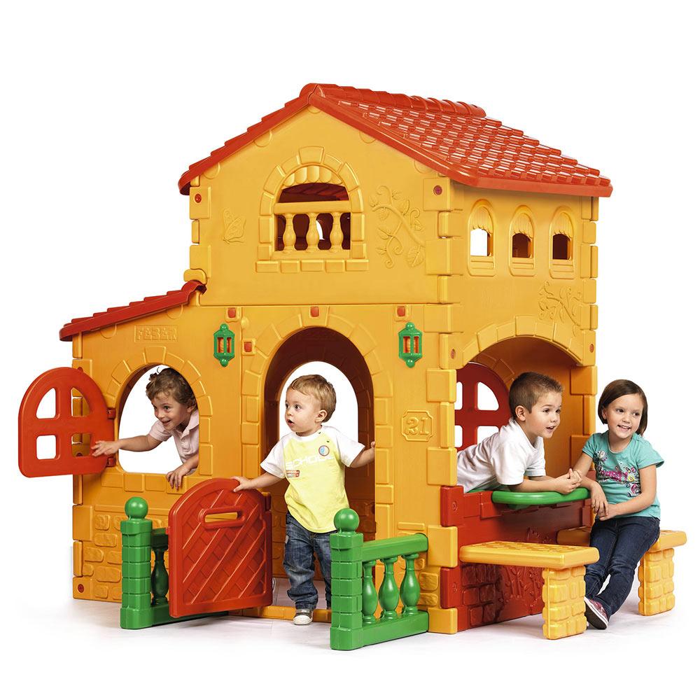 maisonnette en plastique de jardin pour enfants GRANDE VILLA FEBER