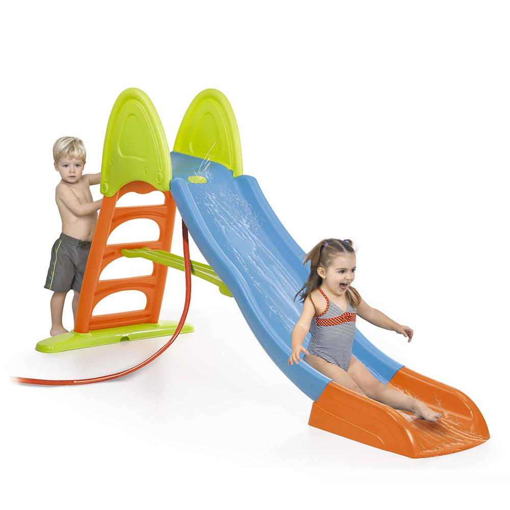 Toboggan de jardin en plastique pour enfants Super Mega Slide de Feber