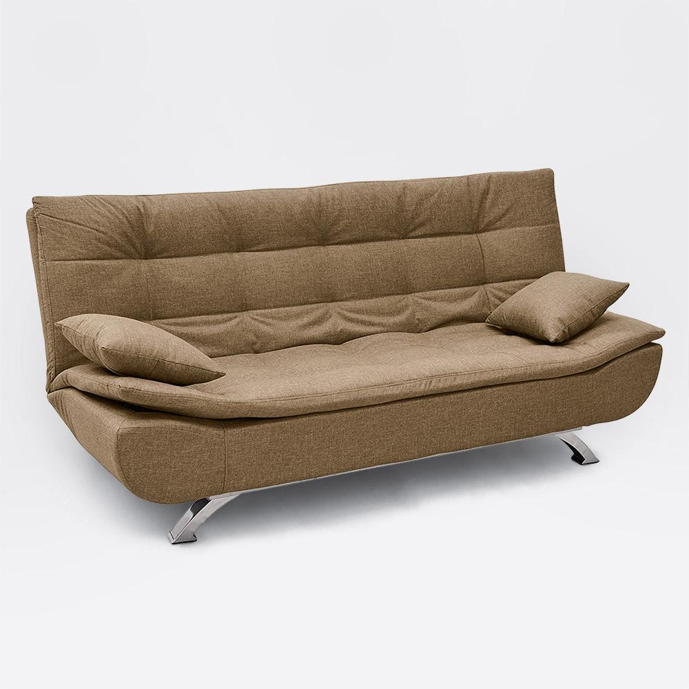 Canapé convertible 2 places en microfibre design moderne ...