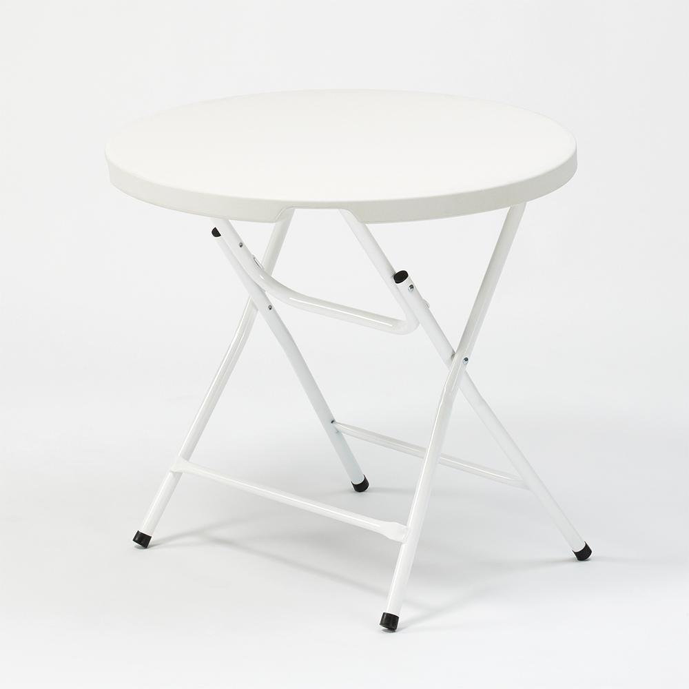Arthur Table pliante de forme ronde 6 x 6 cm pour jardin et camping