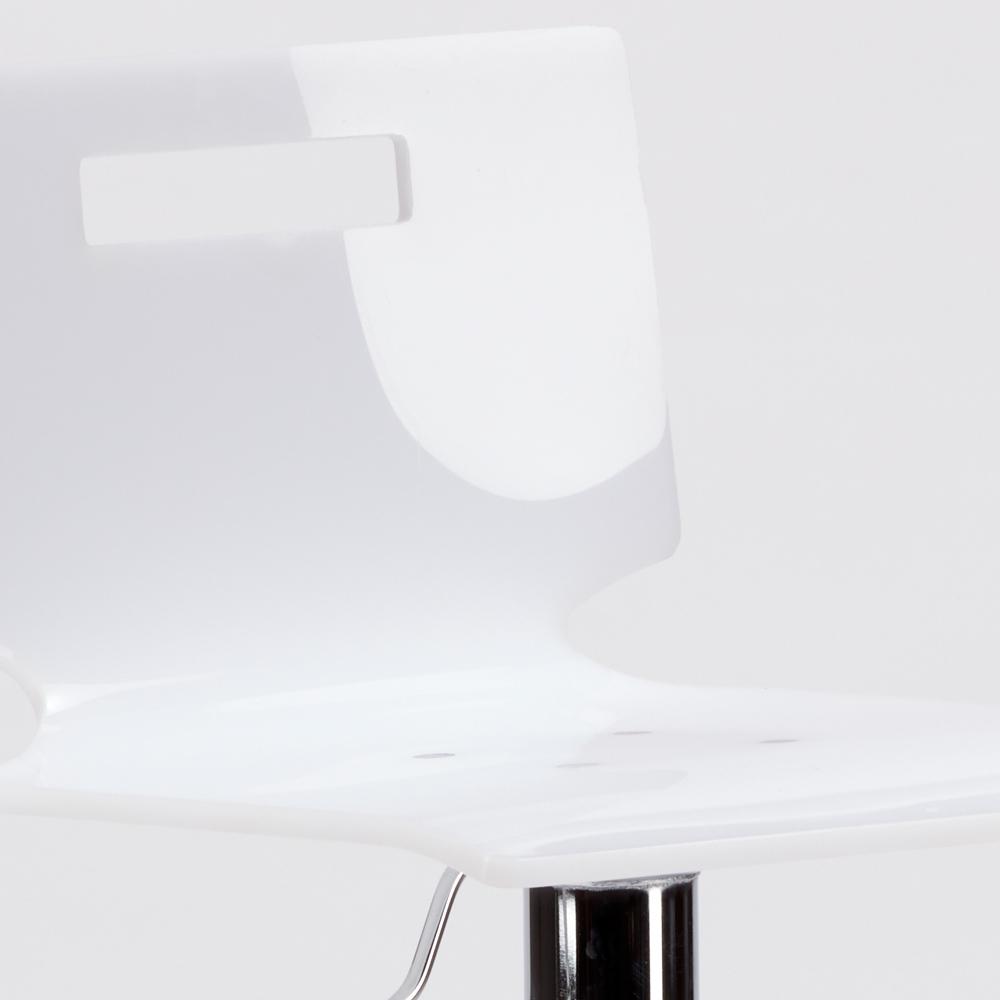 miniature 23 - Tabouret haut bar et cuisine en acier chromé San José Design