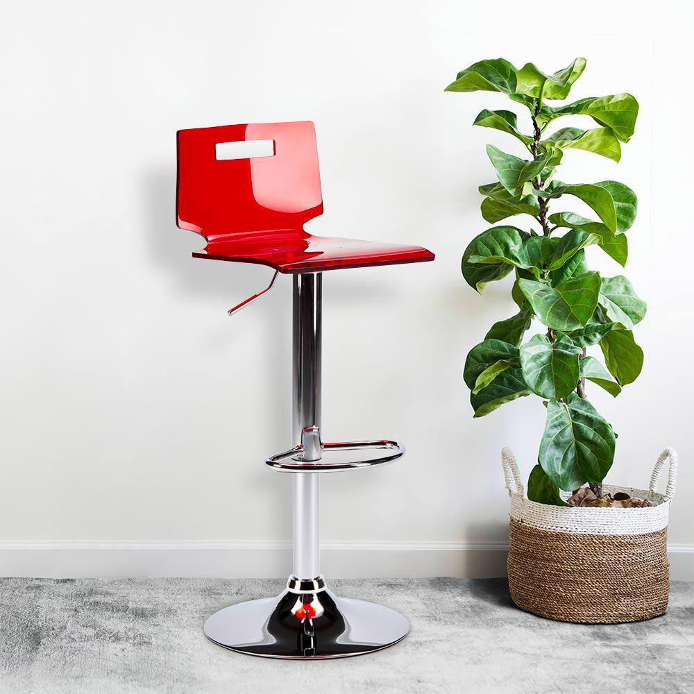 miniature 26 - Tabouret haut bar et cuisine en acier chromé San José Design