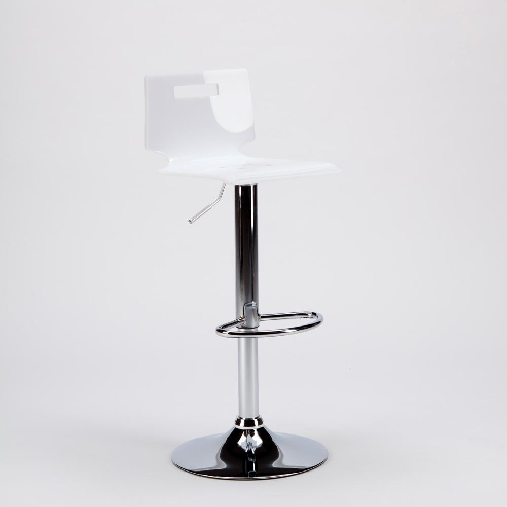 miniature 21 - Tabouret haut bar et cuisine en acier chromé San José Design