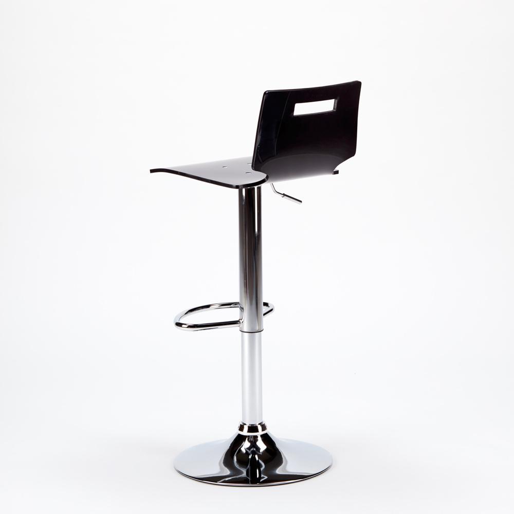 miniature 34 - Tabouret haut bar et cuisine en acier chromé San José Design