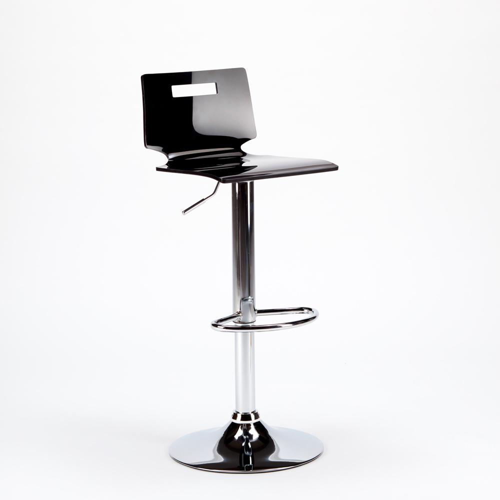 miniature 33 - Tabouret haut bar et cuisine en acier chromé San José Design