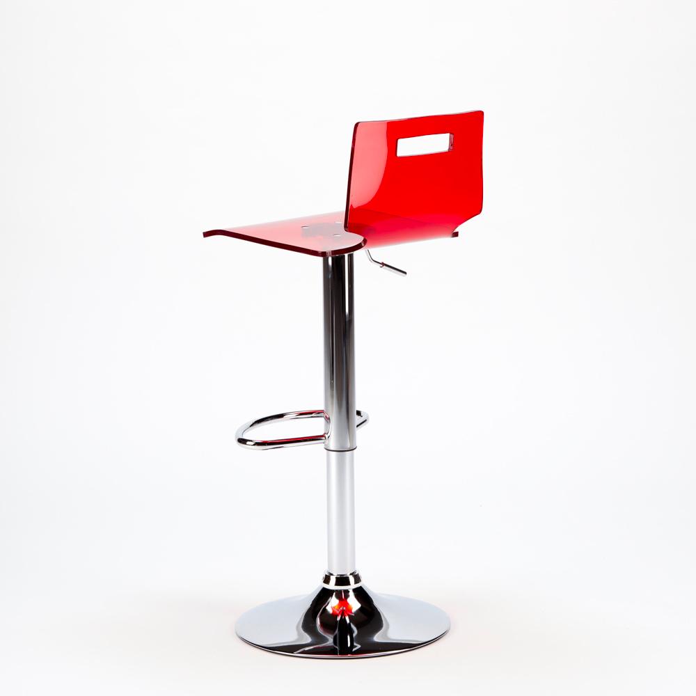 miniature 28 - Tabouret haut bar et cuisine en acier chromé San José Design