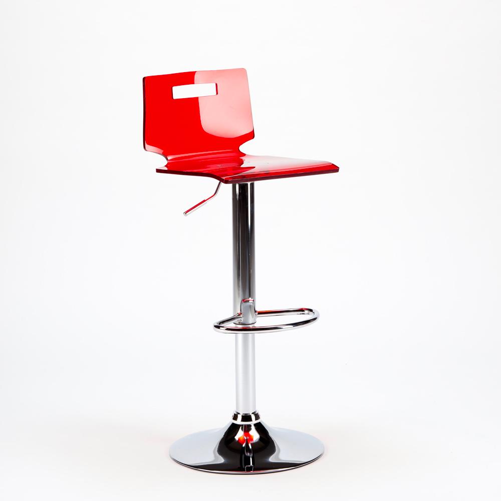 miniature 27 - Tabouret haut bar et cuisine en acier chromé San José Design