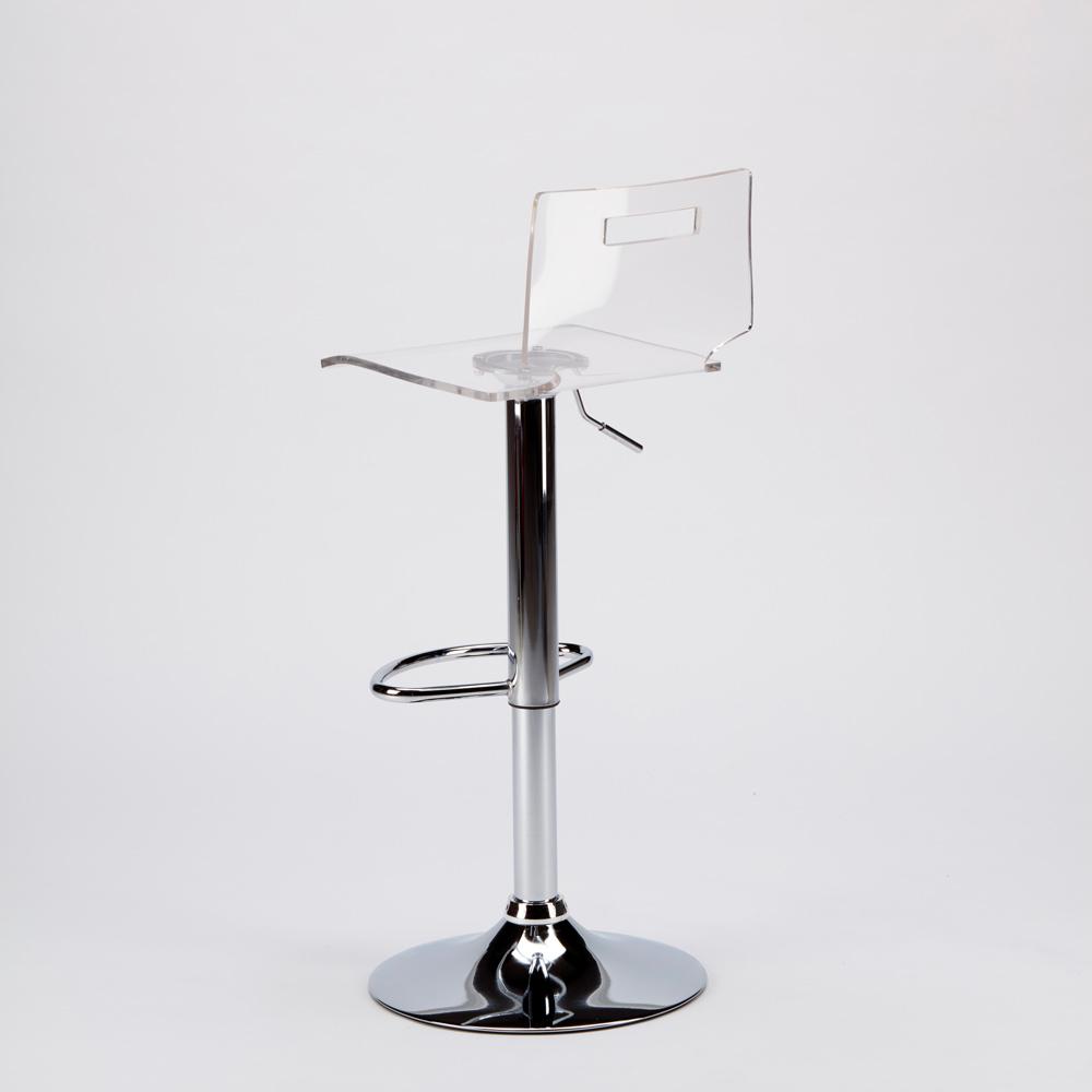 miniature 16 - Tabouret haut bar et cuisine en acier chromé San José Design