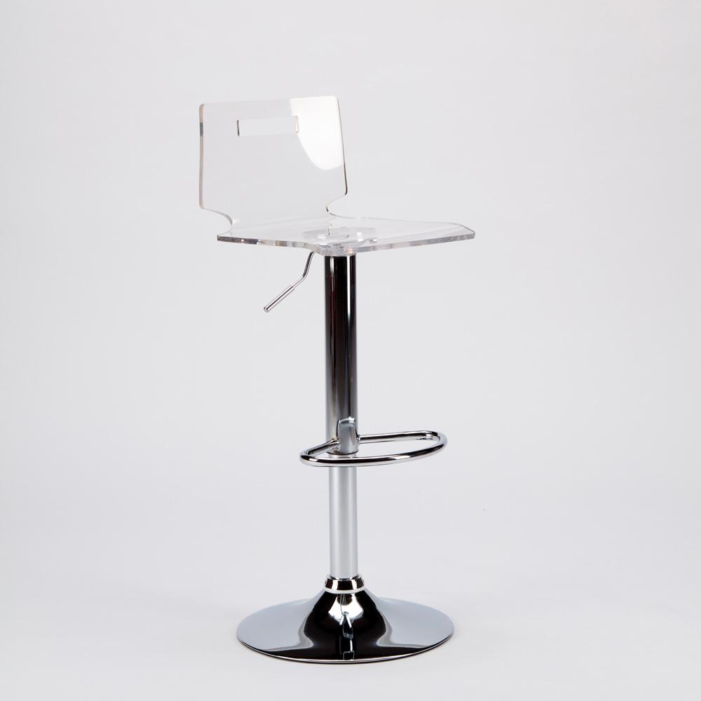 miniature 15 - Tabouret haut bar et cuisine en acier chromé San José Design