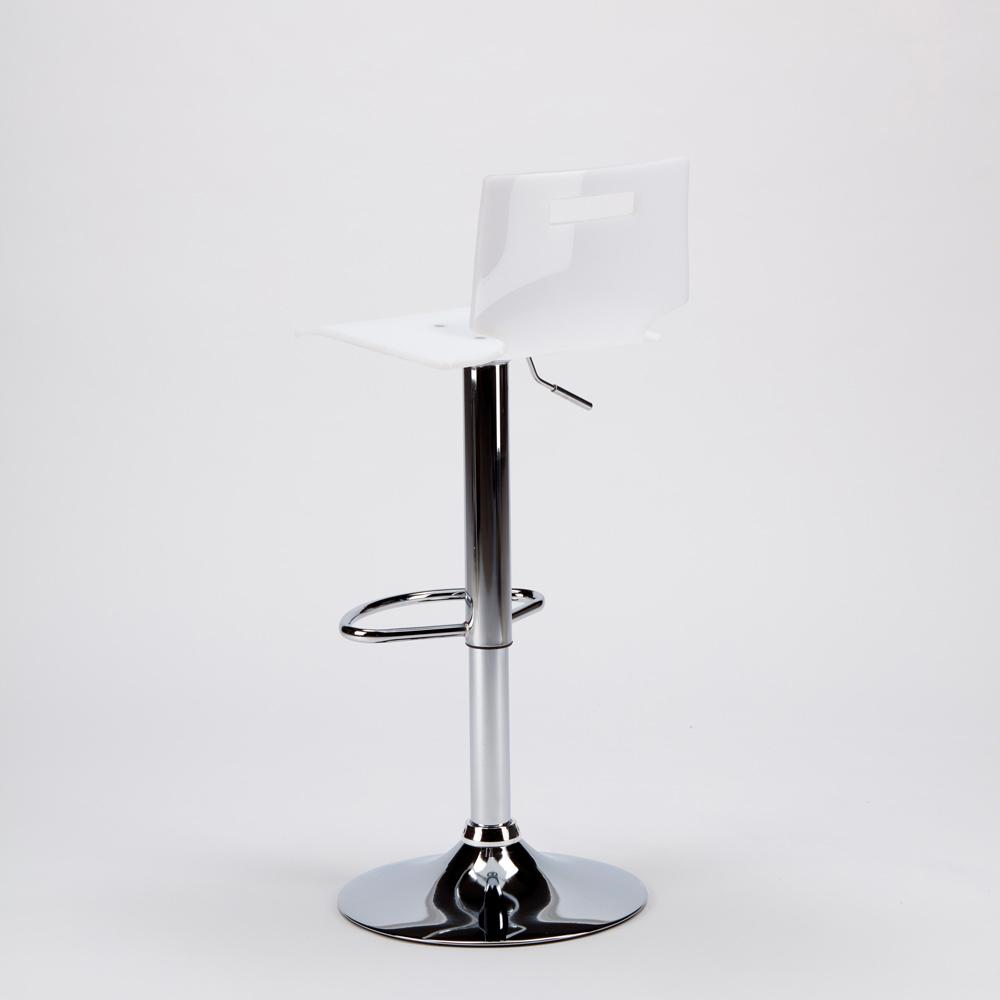 miniature 22 - Tabouret haut bar et cuisine en acier chromé San José Design