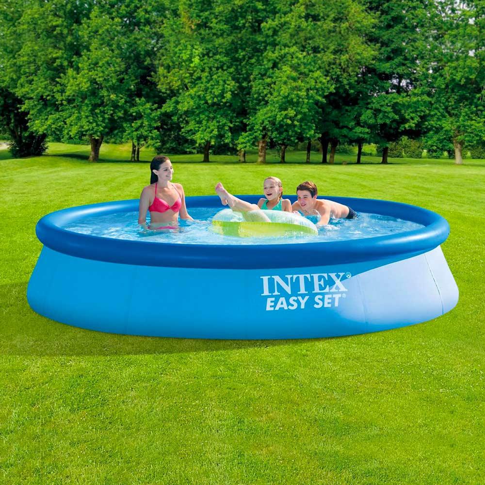 Intex 28142 Easy Set meilleures piscines hors-sol Gonflable Ronde 396x84cm