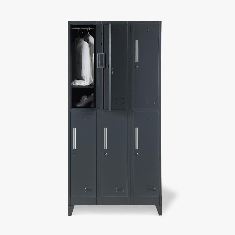 Casiers avec 6 compartiments 90x45 H180 pour vestiaire verrouillable ETNA - offert