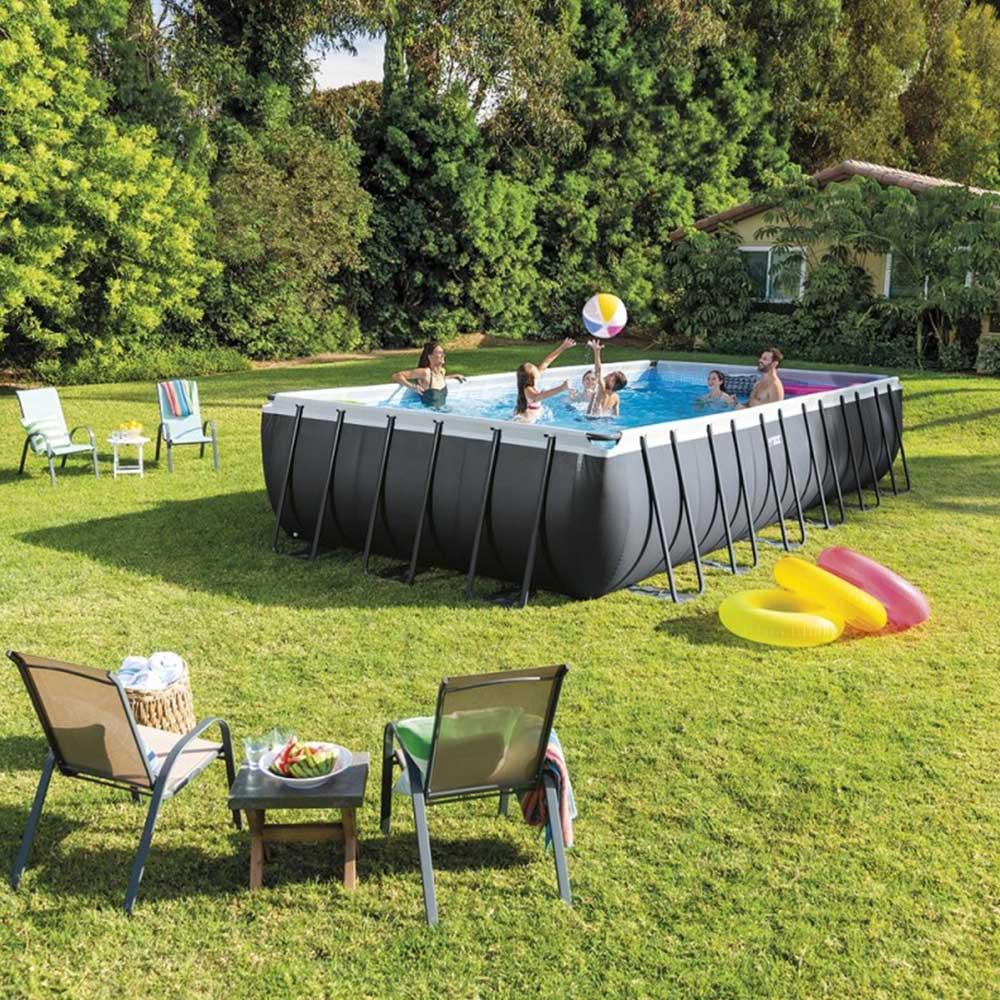 meilleures piscines hors-sol Intex 26364 Hors-Sol Rectangulaire Ultra Xtr Frame 732x366x132cm