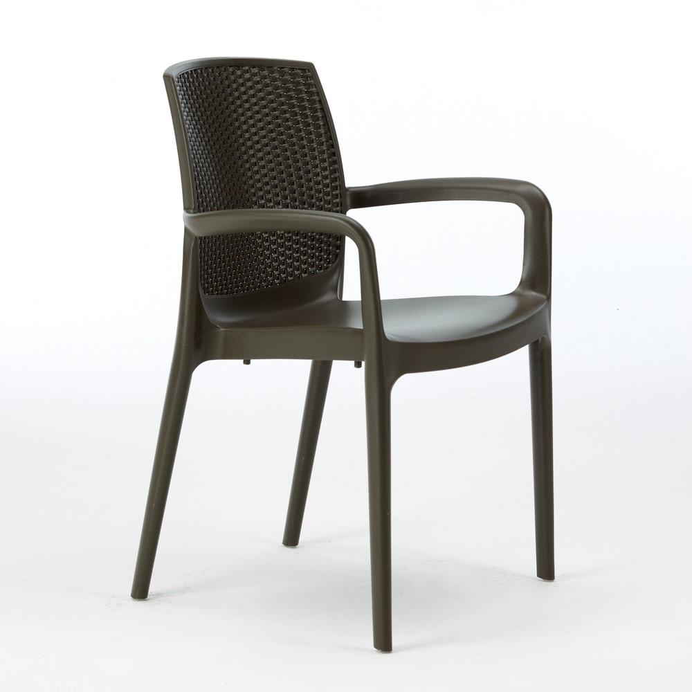 miniature 33 - Chaises de Jardin Boheme Grand Soleil Bar avec accoudoirs Poly-rotin