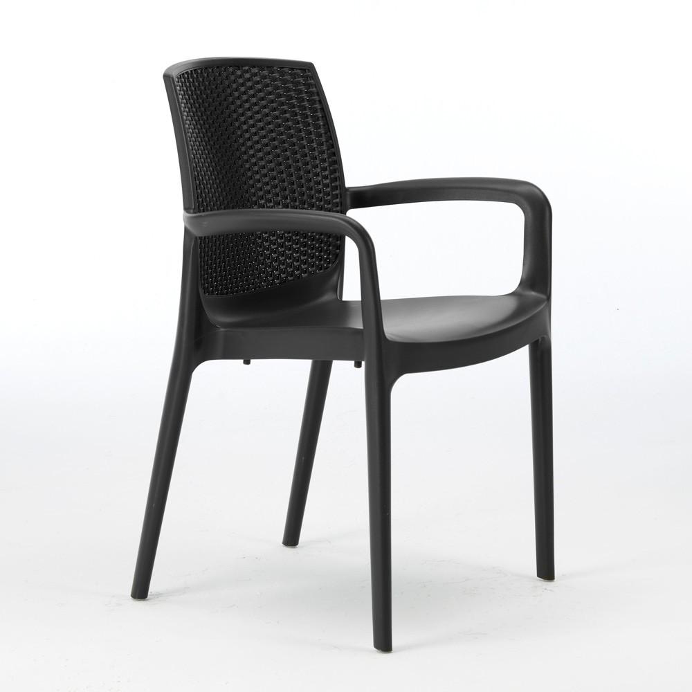 chaises de jardin boheme grand soleil bar avec accoudoirs poly rotin