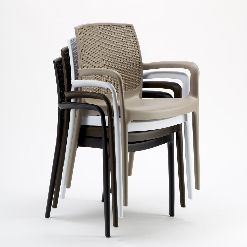 miniature 34 - Chaises de Jardin Boheme Grand Soleil Bar avec accoudoirs Poly-rotin