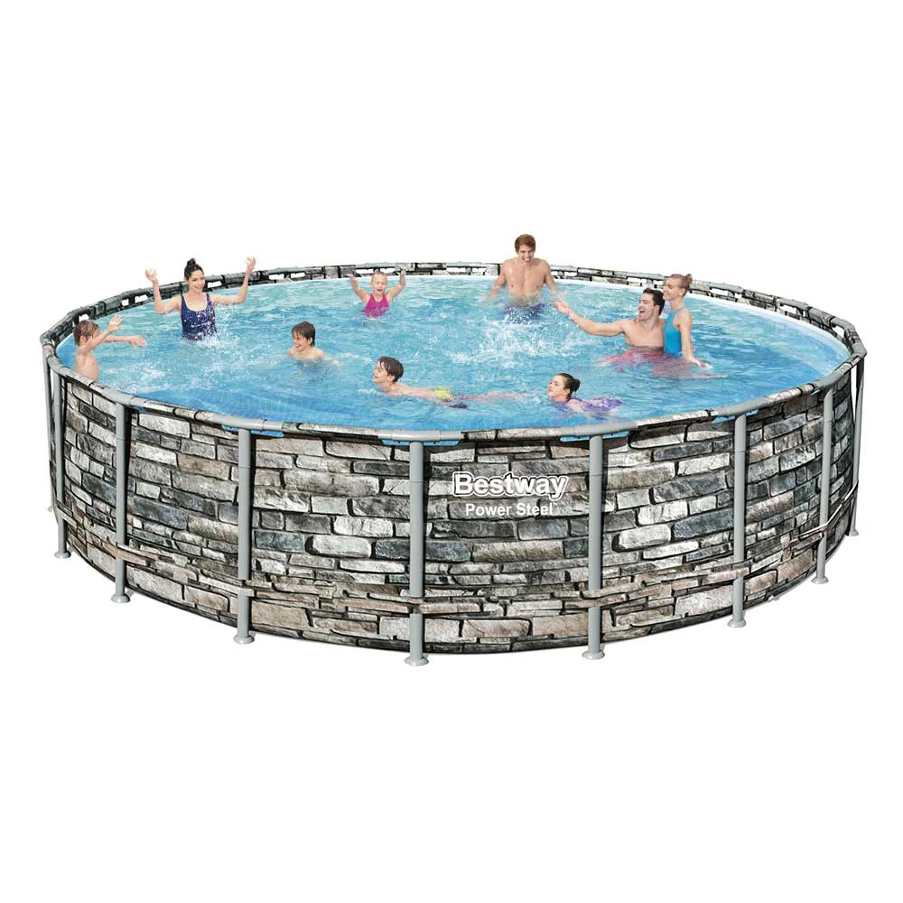 Bestway 8 : Piscine hors-sol ronde Power Steel 8x8cm en promotion