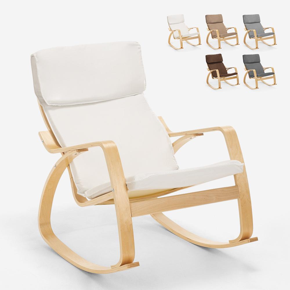 Fauteuil à bascule au design scandinave ergonomique Aalborgb