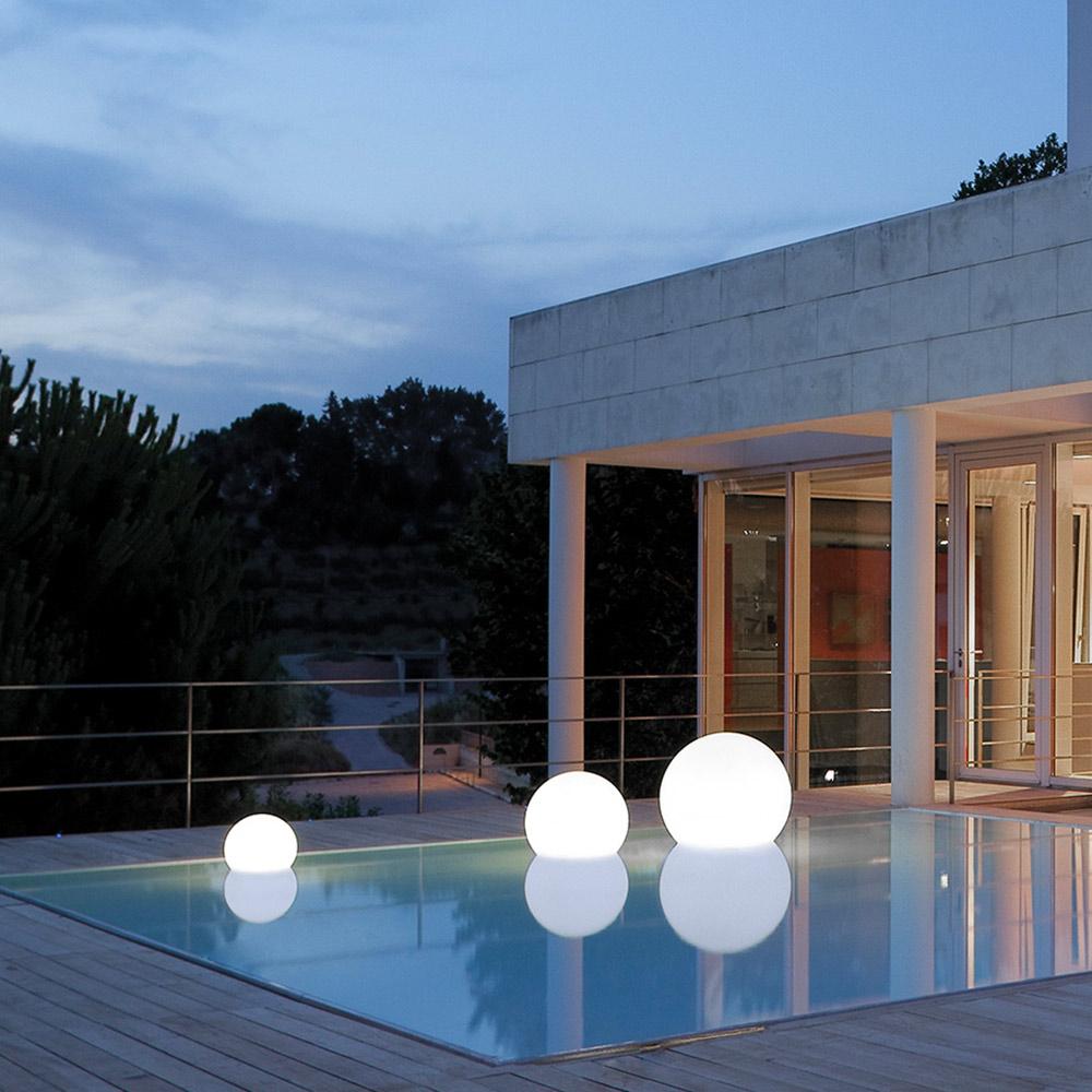 Lampe Flottante Design Pour Piscine éclairage Extérieure Slide Acquaglobo