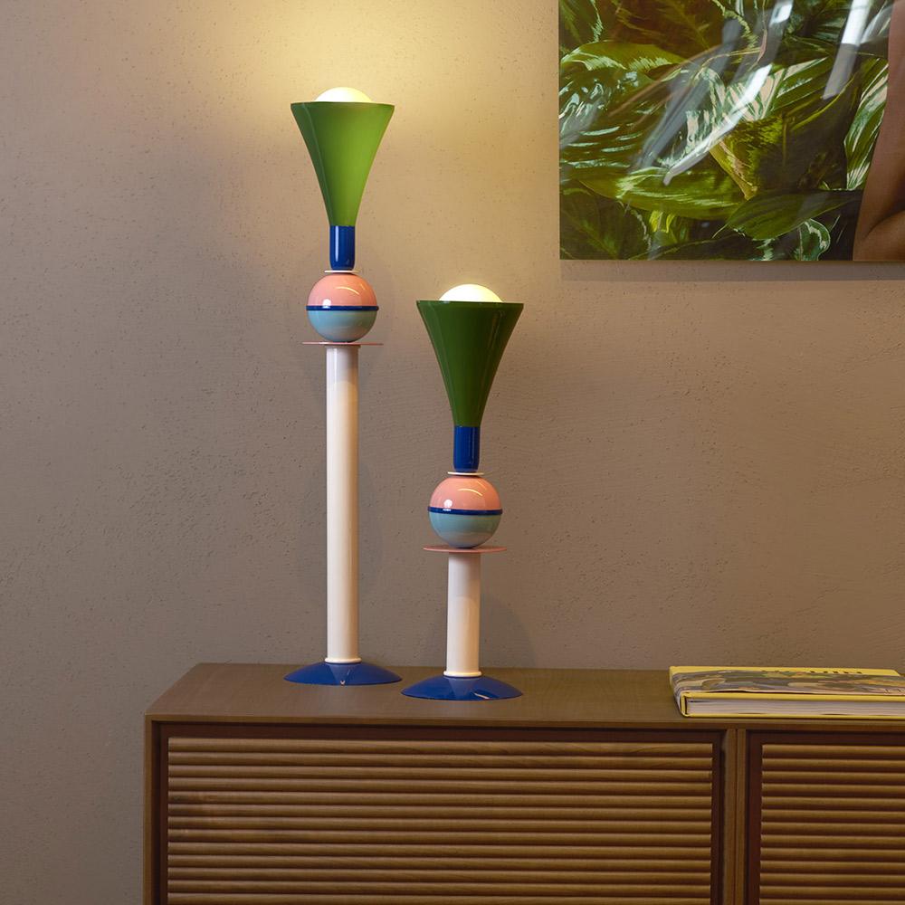 Lampadaire De Table Design Moderne Multicolore éclairage Intérieur Slide Carmen