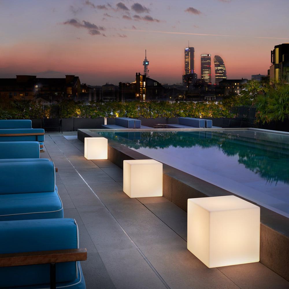 Lampadaire Table Design Moderne Slide Cubo