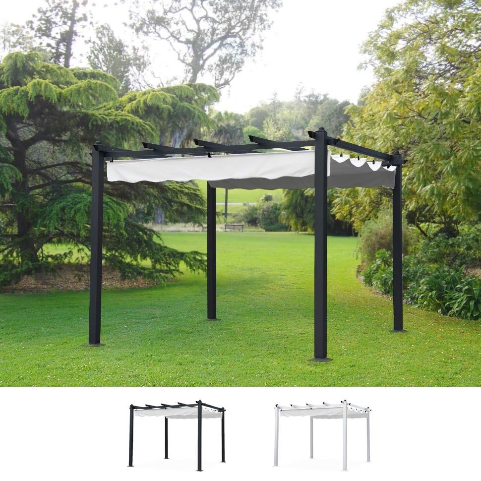 tonnelles de jardin Carrées 3x3 Mètres De Jardin En Aluminium Bar Restaurant Hôtel Firenze