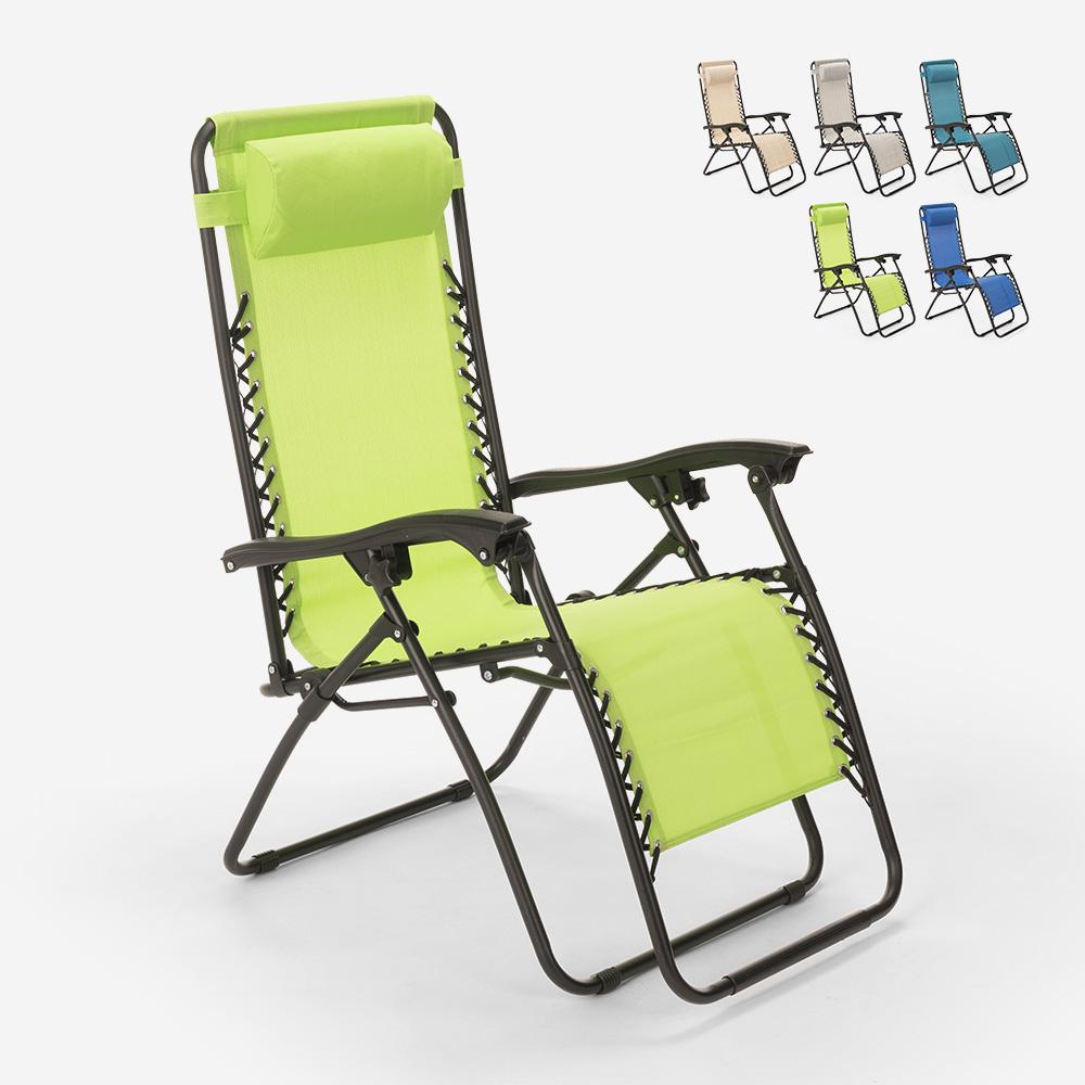 Chaise longue de plage et jardin pliante multi-positions Emily Zero Gravity