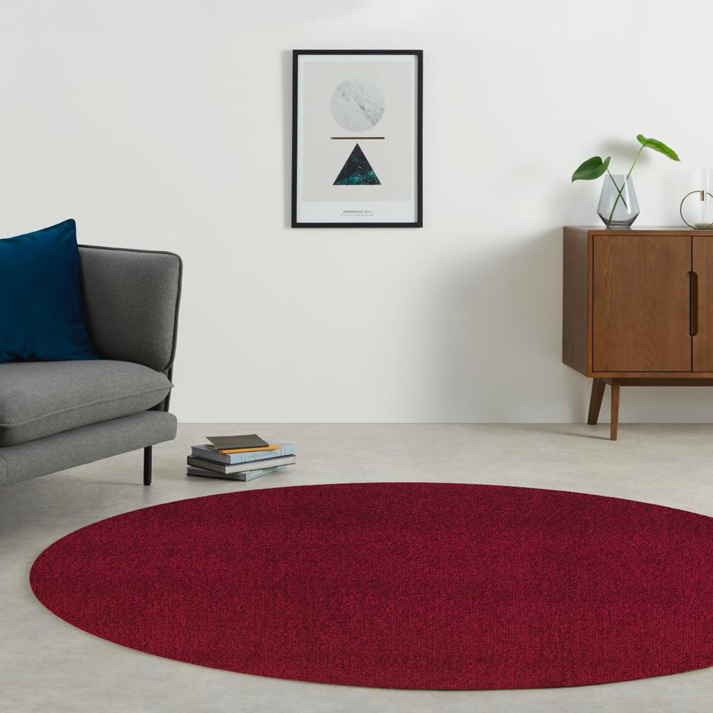Tapis rond de salon moderne 80cm Casacolora CCTOBOR