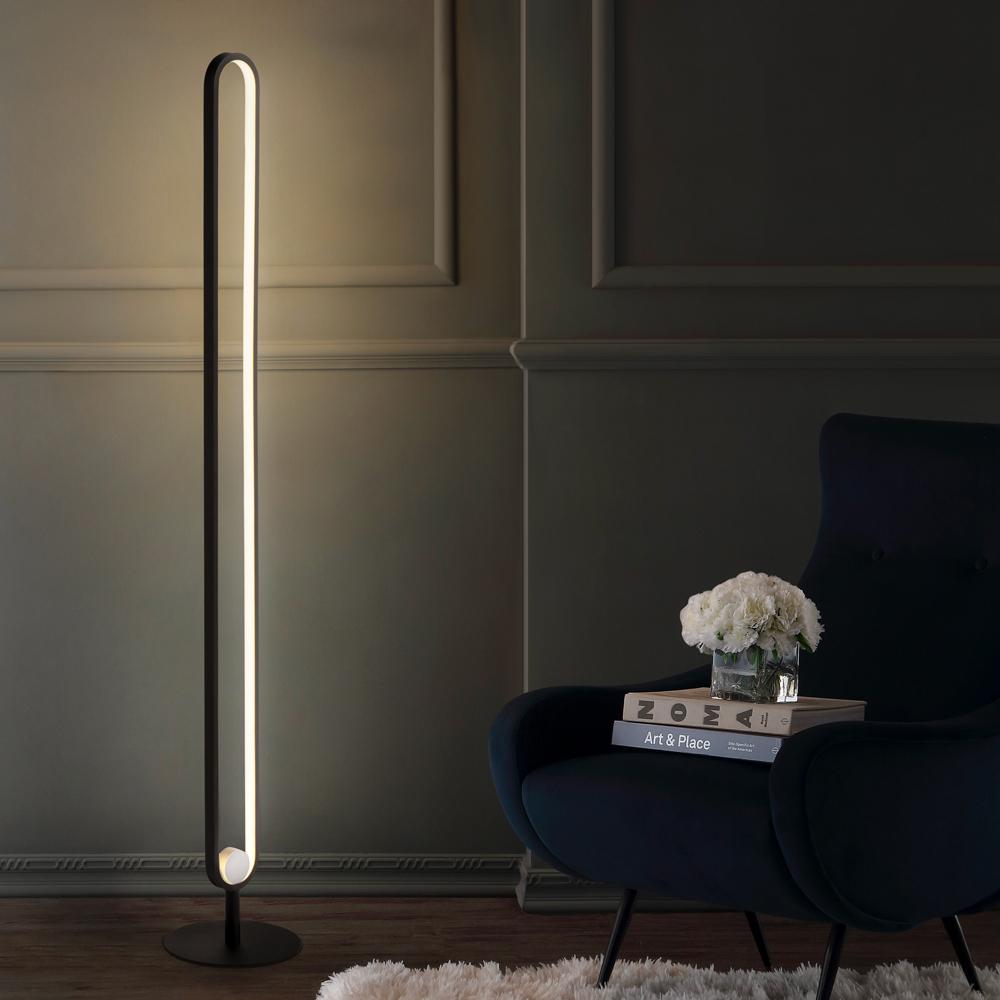 Lampadaire LED su pied pour Salon au Design Moderne et élégant Polluce