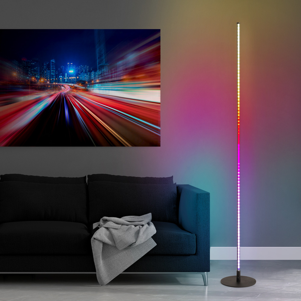 Lampadaire LED design minimaliste télécommande moderne RGB Dubhe