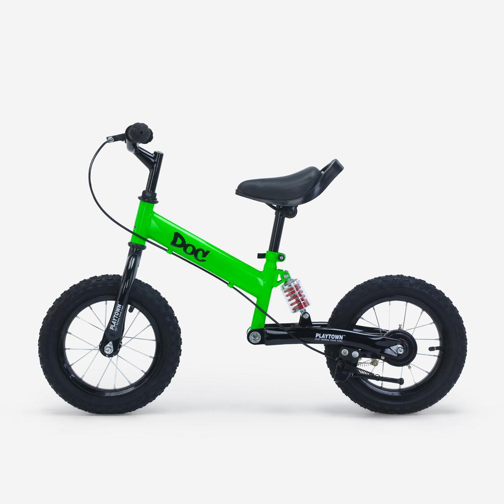 Vélo pour enfants sans pédales avec frein roues gonflables et béquille Doc