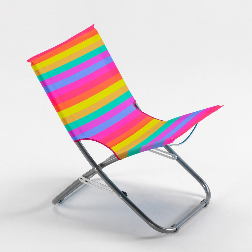 Chaise de plage pliante multicolore facile à transporter Rodeo Rainbow