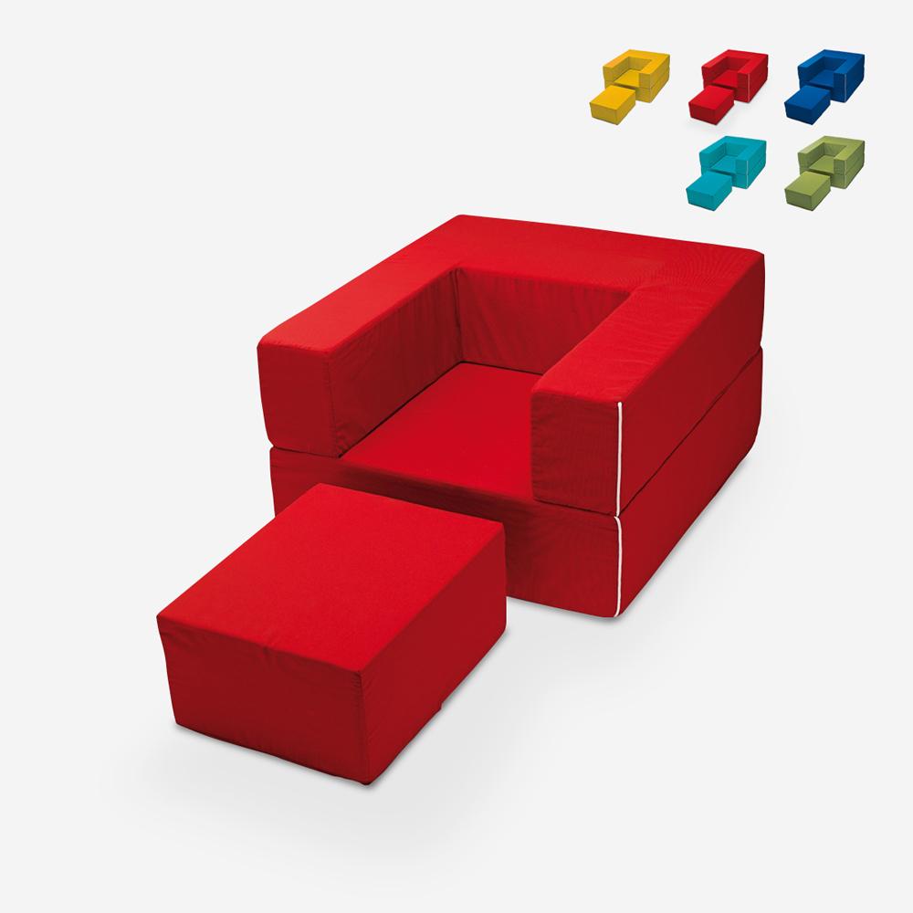 Fauteuil modulable design modulable avec méridienne lit en tissu Free Sofa