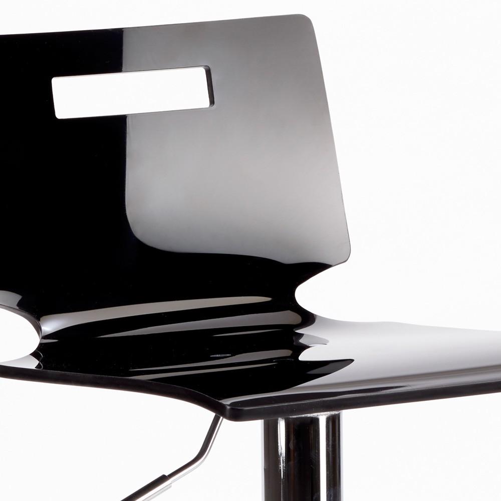 miniature 35 - Tabouret haut bar et cuisine en acier chromé San José Design