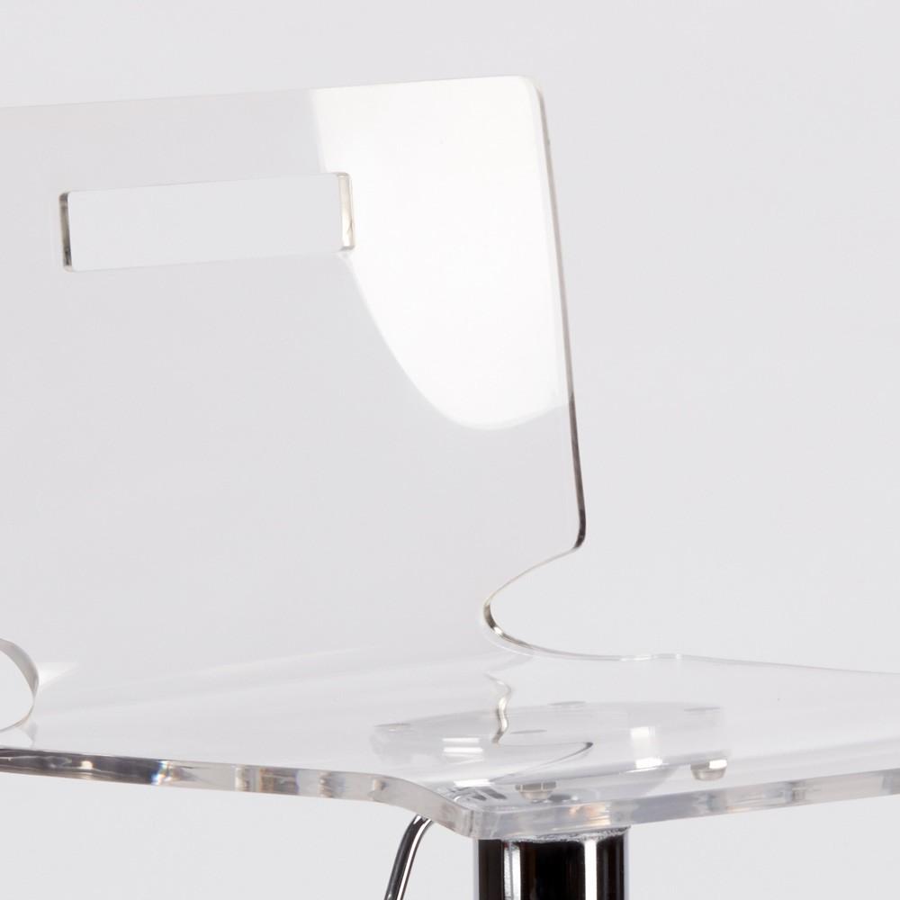 miniature 17 - Tabouret haut bar et cuisine en acier chromé San José Design