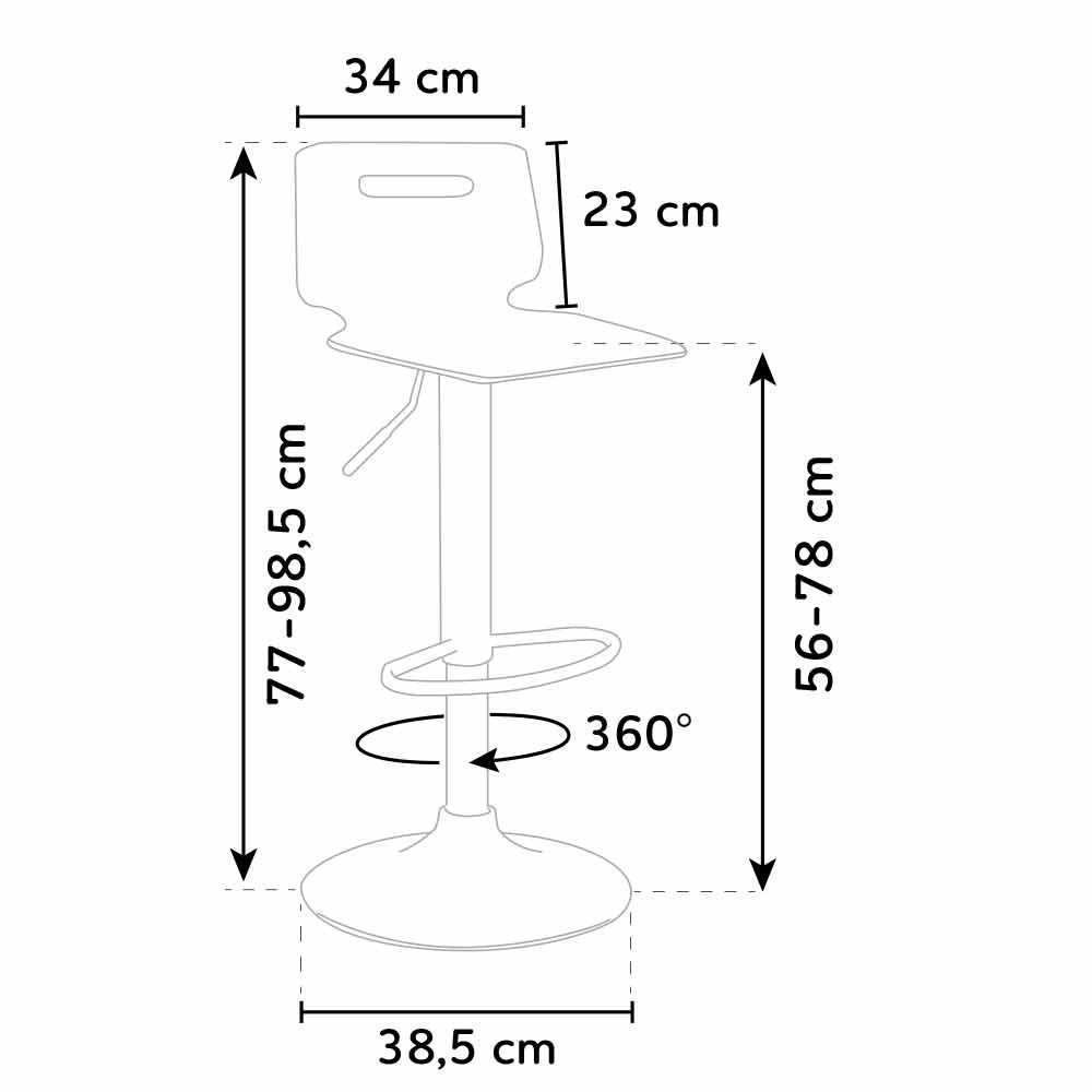 miniature 30 - Tabouret haut bar et cuisine en acier chromé San José Design
