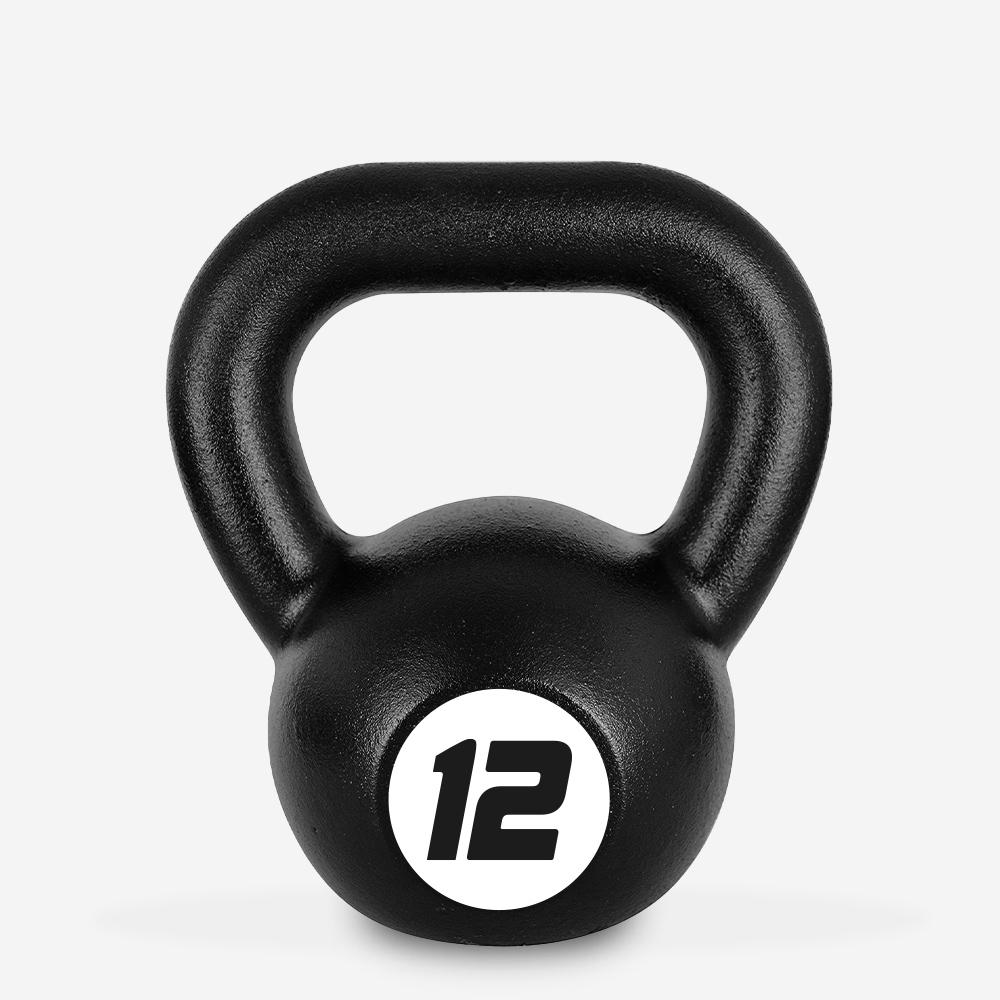 Kettlebell en fer poids 12 kg poignée boule pour salle de fitness Kotaro