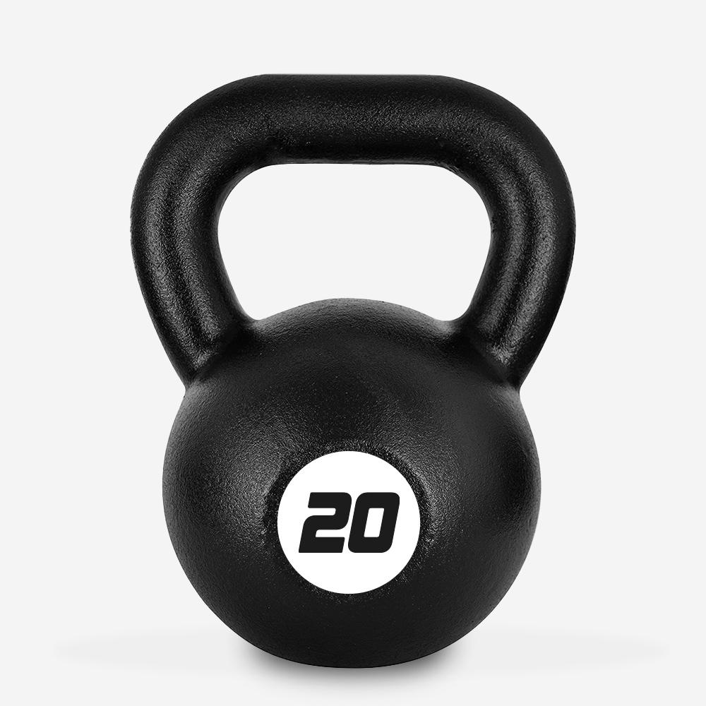 Kettlebell en fer poids 20 kg poignée boule pour salle de fitness Kotaro
