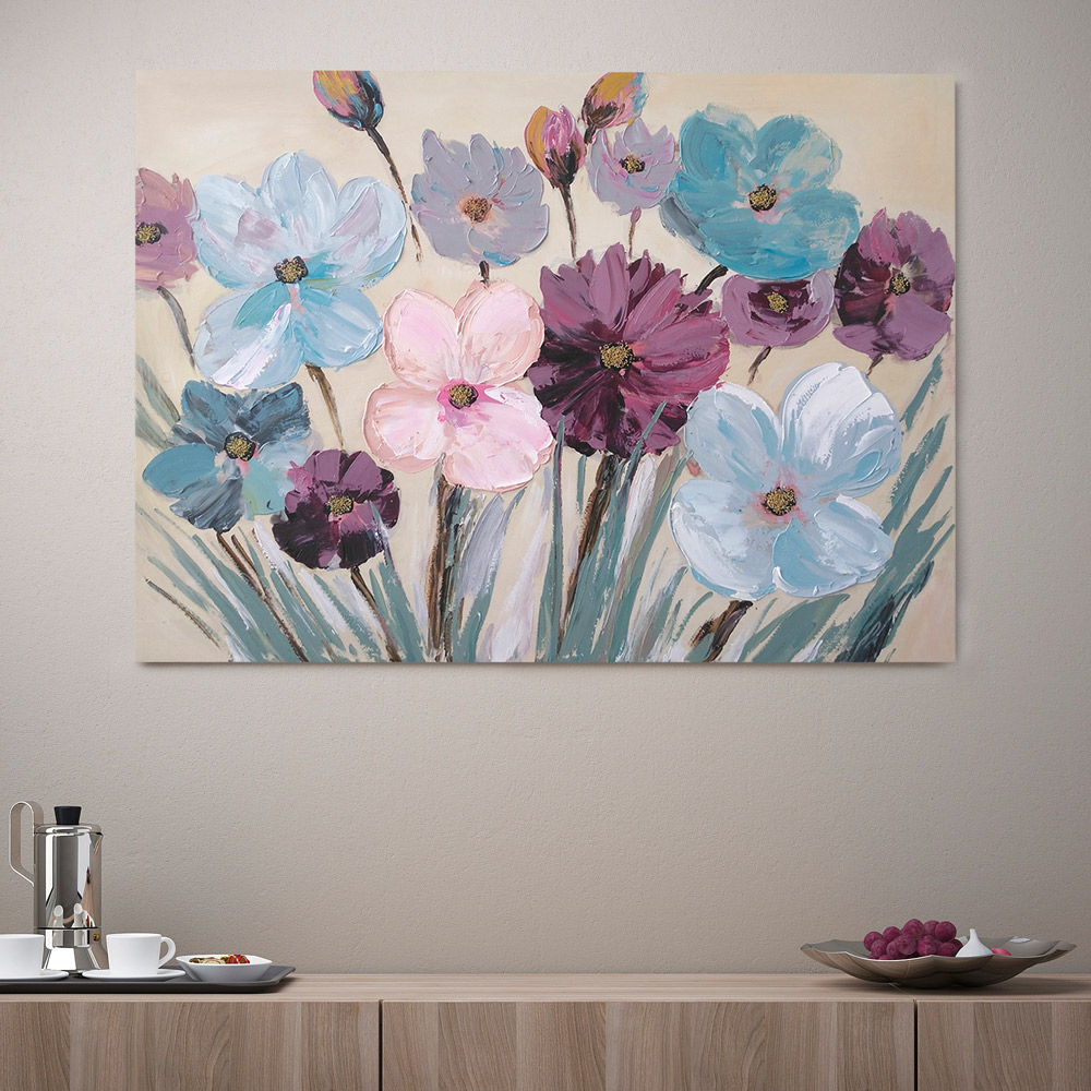 tableau peint à main FLOWERY SPA à la maison