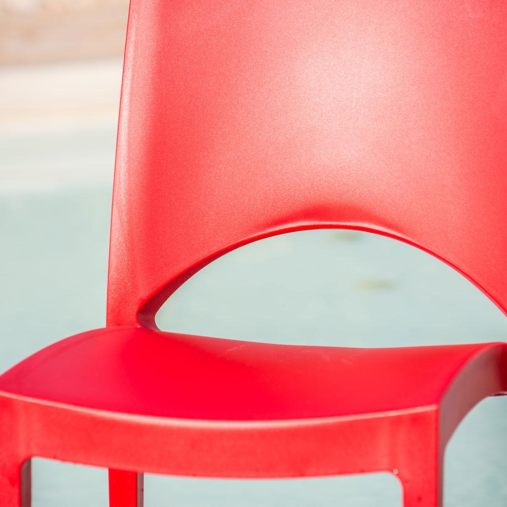 miniature 74 - Chaise en polypropylène empilable salle à manger bar Paris Grand Soleil