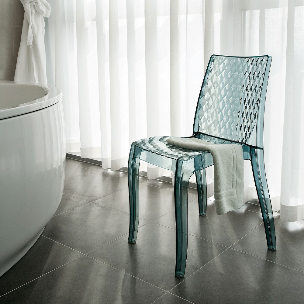 miniature 14 - Chaise salle à manger bar en transparent empilable HYPNOTIC Grand Soleil