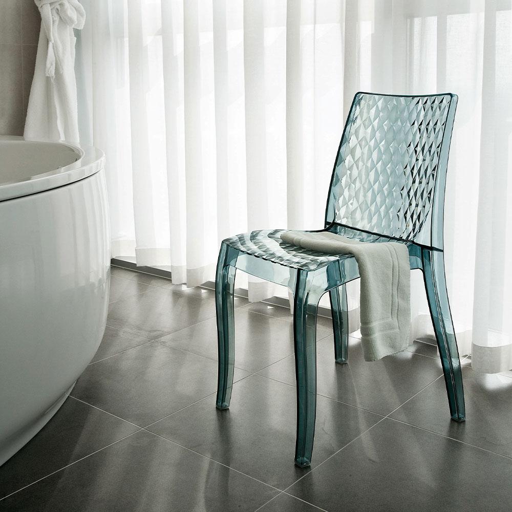miniature 20 - Chaise salle à manger bar en transparent empilable HYPNOTIC Grand Soleil