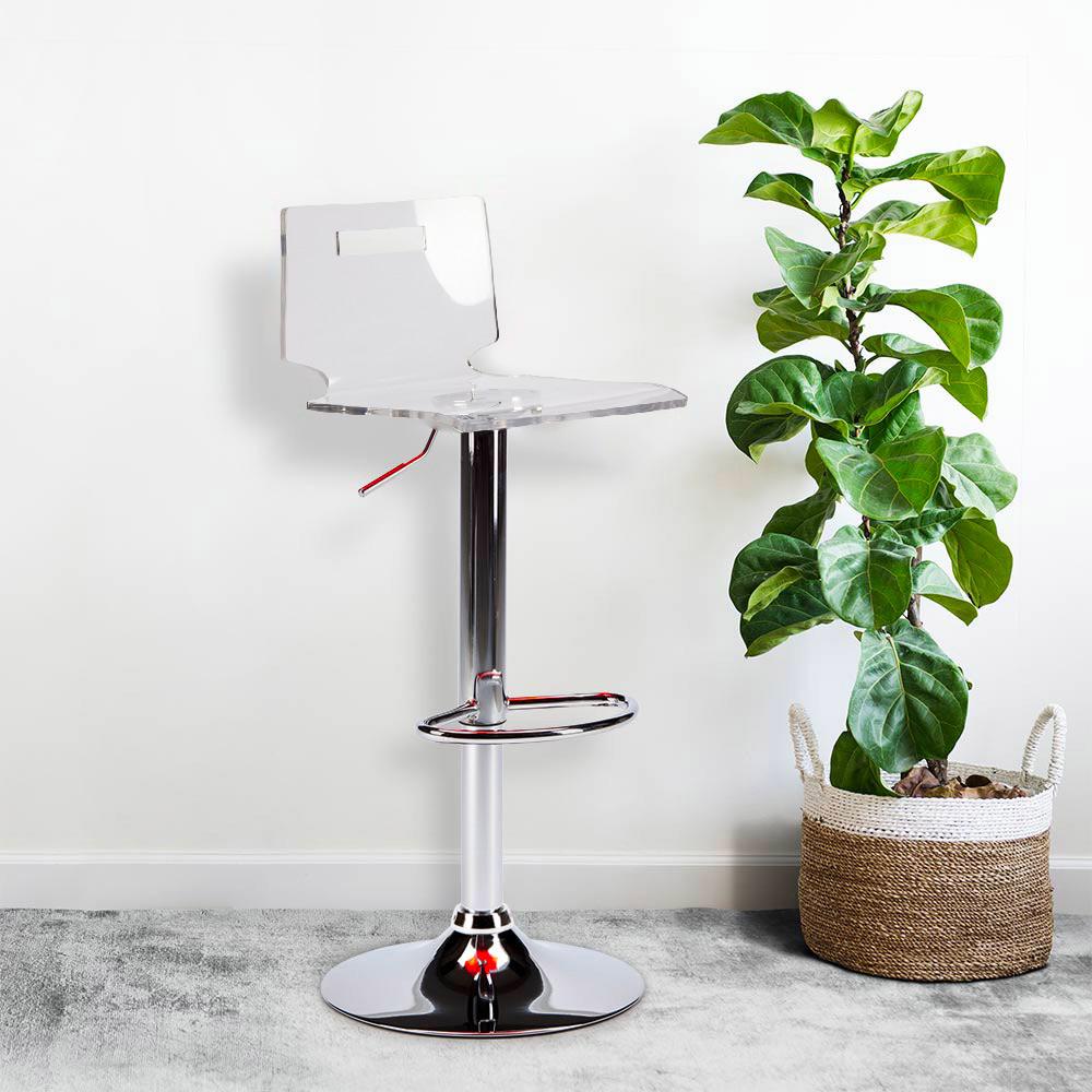 miniature 14 - Tabouret haut bar et cuisine en acier chromé San José Design