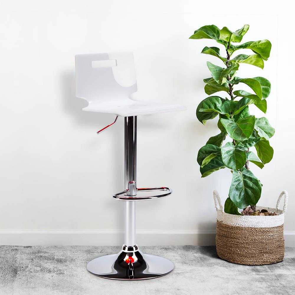 miniature 20 - Tabouret haut bar et cuisine en acier chromé San José Design