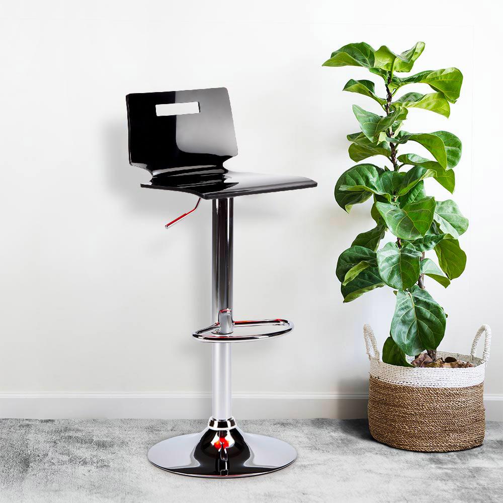 miniature 32 - Tabouret haut bar et cuisine en acier chromé San José Design