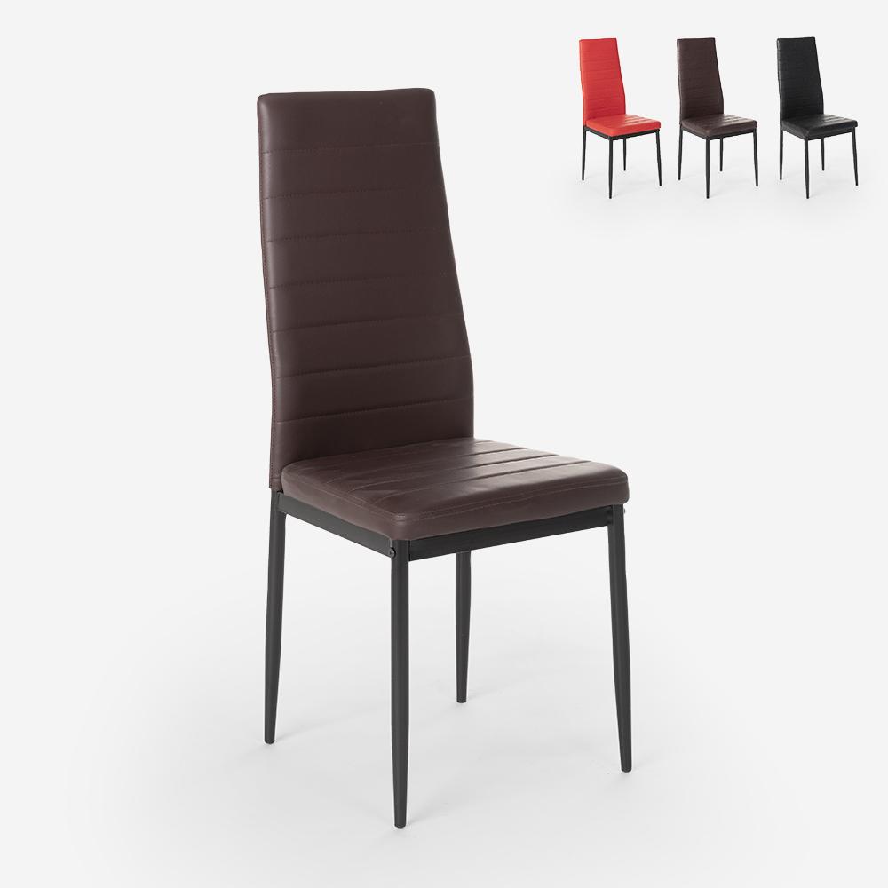 Chaises rembourrées au design moderne pour restaurant cuisine Imperial Dark