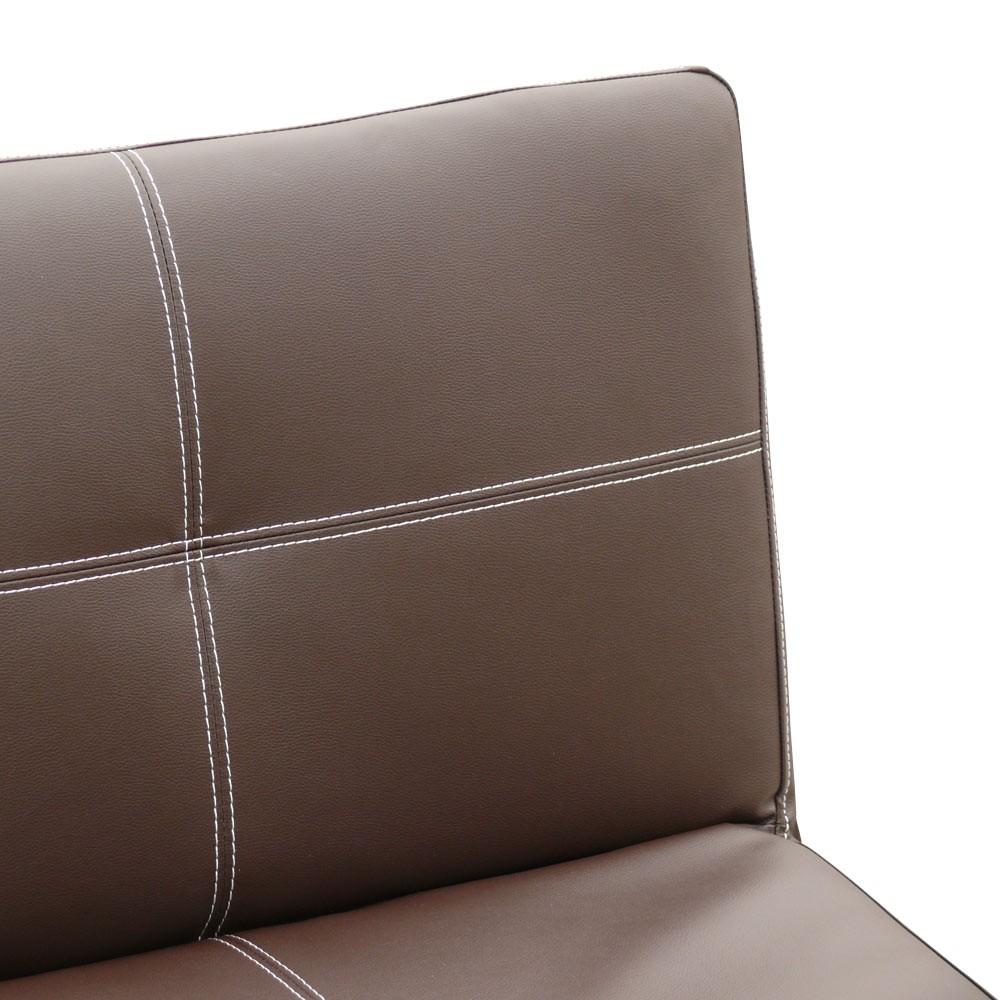 miniature 42 - Canapé Clic Clac convertible 3 places similicuir économique Topazio